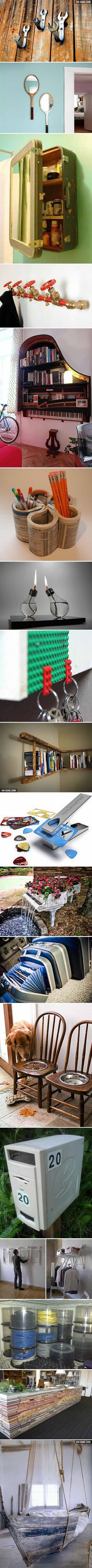 18 Incredible Things You Can Make From Old Stuff