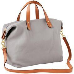 Gap Women Leather Satchel Crossbody ($70) ❤ liked on Polyvore