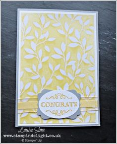 Stampin' Up! Irresistibly Yours Embossed Papers - Spritz for a coloured background. Earn free product at www.stampindelight.stampinup.net