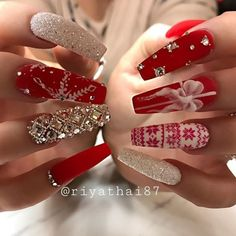 141 suprising christmas nail art design ideas for this new year -page 21 - 141 . - 141 suprising christmas nail art design ideas for this new year -page 21 – 141 suprising christmas nail art design ideas for this new year -page 21 , Chistmas Nails, Cute Christmas Nails, Christmas Nail Art Designs, Xmas Nails, Holiday Nails, Christmas Acrylic Nails, Christmas Design, Winter Acrylic Nails, Christmas Ideas