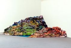 Justine Blau, Somewhere Else, installation, ink-jet prints, polystyrene, staples, pins, 2008