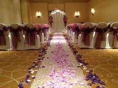 Pink and Lilac wedding ceremony in Tampa Florida