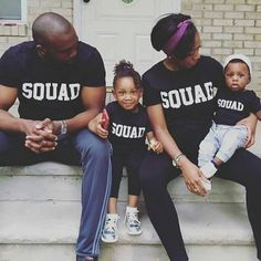 SQUAD Matching T-Shirts Parent Child Shirts Matching Shirts Family shirts Mother Daughter Father Son Gift Cute shirts Team Groupie Clan