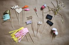 DIY Cocktail Sticks .... too cute right!