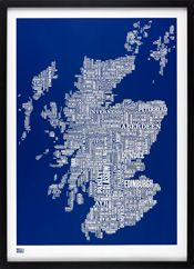 Scotland Type Map by Bold & Noble