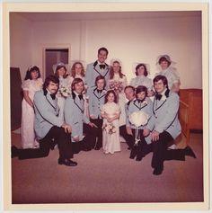 Vintage 70s Photo Wedding Court w Bride Amp Groom Flower Girl Amp Ring Bearer | eBay