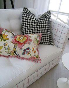 Graphic pillows by lisa sherry interieurs inc