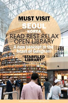 A place to read, rest, relax – OPEN Library in Seoul! Seoul Korea Travel, Asia Travel, South Korea Seoul, Travel Advice, Travel Tips, Travel Stuff, Travel Hacks, Budget Travel, Busan