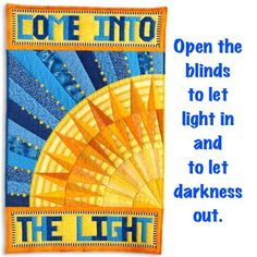 """The Dimension sang, """"Let the Sunshine In."""" It's great advice! 5th Dimension, Note Cards, My Etsy Shop, Let It Be, Crafty, Quilts, Words, Sunshine, Advice"""