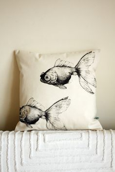 I am in love with this fish pillow.  Two fish that will never die.