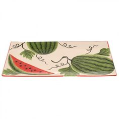 Ceramic plate with watermelon , in size cm