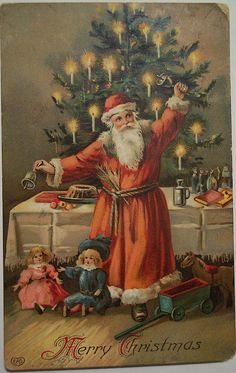 New Vintage Christmas Santa Beautiful Ideas Vintage Christmas Images, Noel Christmas, Victorian Christmas, Father Christmas, Retro Christmas, Christmas Pictures, Christmas Greetings, Christmas Postcards, Christmas Mantles