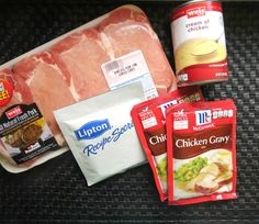Smothered Pork Chops are incredible! It's a Slow Cooker Recipe with just a few ingredients so it's great if you're on the go. Just add the ingredients and go! Crock Pot Recipes, Crock Pot Food, Crockpot Dishes, Pork Dishes, Slow Cooker Recipes, Cooking Recipes, Cooking Courses, Crock Pots, Porkchop Recipes Crockpot
