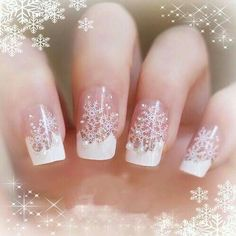 88 Awesome Christmas Nail Art Design Ideas 2017 - Do you want to quickly get catchy nails for Christmas? Curious about the hottest Christmas nail art design ideas that are presented for this year? Xmas Nails, Holiday Nails, Christmas Nails, Snow Nails, Christmas Night, Cheap Christmas, Nail Art Noel, Snowflake Nail Art, White Snowflake