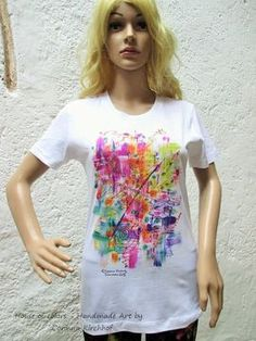 House of colors - handmade Art by Corinna Kirchhof - Artist from Dürnstein at the Danube Wachau Valley Austria - Online Shop Wachau Valley, Handmade Art, Bunt, Tie Dye, Sweatshirt, T Shirts For Women, Sleeve, Artist, Shopping