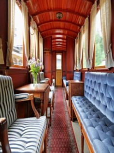 luxury train travel, someday before I get old and feeble, I want to restore a couple old Pullman cars :)