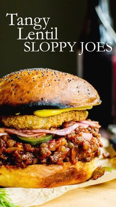 Freezer friendly Tangy Lentil Sloppy Joes are tender, slightly spicy and oh SO crave-worthy. Serve these easy vegetarian sandwiches up with your favorite tater tots, fries or potato salad. Lentil Recipes, Veggie Recipes, Whole Food Recipes, Cooking Recipes, Healthy Recipes, Kitchen Recipes, Diet Recipes, Tater Tots, Vegan Foods