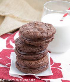 Chocolate Coma Sandwich Cookies