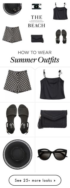 """""""Summer Outfit"""" by butterflykisses89 on Polyvore featuring H&M, Lomography, Cheap Monday, summeroutfit, blackonblack, contestentry and colorchallenge"""