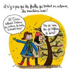 Illustration par Crayon d'Humeur pour Charles & Alice : Et vous en automne vous avez plutôt la pêche ou le bourdon ?