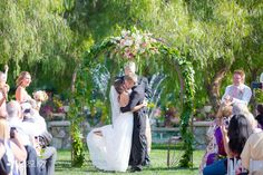 Wedding: Aarron & Kristina: Lake Oak Meadows// Temecula, CA » Analisa Joy Photography // first kiss as husband and wife!