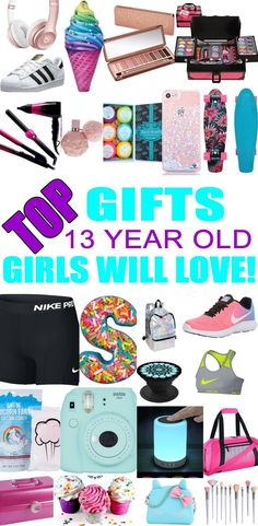 Top Gifts For 13 Year Old Girls! Best gift suggestions & presents for girls thirteenth birthday or Christmas. Find the best ideas for a girls bday or Christmas. Shop the best gift ideas now for tween & teens. gifts for kids Birthday Presents For Teens, Teen Presents, Teen Birthday Gifts, Diy Presents, Tween Girl Gifts, Gifts For Kids, Best Friend Gifts, Best Gifts, Top Gifts