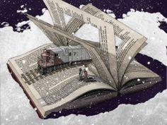 """bibliolectors: """" We traveled to reading 2014 / Hay un tren que nos lleva a la lectura de 2014 (ilustración de David Curtis) """""""