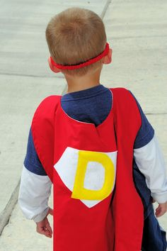 Personalized Superhero Cape Tutorial - Crazy Little Projects