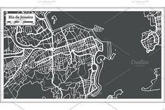 #Rio de #Janeiro #Map in #Retro #Style.  by Igor Sorokin on @creativemarket