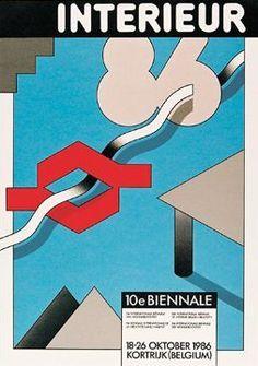 Biennale INTERIEUR 1986. Graphic Identity by Boudewijn Delaere.