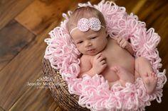 Boa basket filler / newborn basket stuffer / boa basket stuffer / newborn photography prop / loopy yarn in baby pink