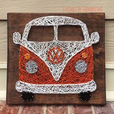 VW Bus String Art by StringsbySamantha on Etsy