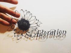 """花言葉シリーズ ひまわり崇拝,敬慕 Sunflower:Language of flowers is """"Adoration"""". #切り絵 #ひまわり #花 #アート #影 #花言葉 #art #paperart #papercutting #papercraft #sunflower #adoration #flower #flowers #paperflower #flowerart #shadowart #languageofflowers"""