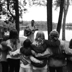 Everyone on Silver Lake gathered this evening for final services and singing down at the lake. What a perfect summer we have had! #lovesingathelake #campmemories #enjoyingeveryminute #friendsforlife