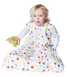 From 19.99 Snoozebag Spots 100% Cotton Unisex 2.5 Tog Nursery Baby Sleeping Bag Multi-coloured 18-36 Months (110cm)