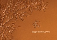 Thanksgiving Greetings - Holiday Greeting Cards- Extend warm Thanksgiving wishes with this unique shiny copper paper reminiscent of cookware used at the holiday. The Office Gal