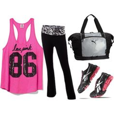 Workout On by ashley-cramer on Polyvore.. I just love these outfits! Great for working out.