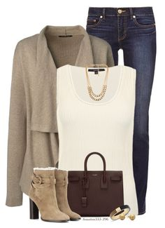 """""""Saturday Morning"""" by houston555-396 ❤ liked on Polyvore featuring Tory Burch, Lands' End, Gucci, NLY Accessories, Yves Saint Laurent, Burberry and Michael Kors"""