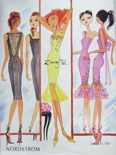 Flower Fields of Fashion: IZAK ZENOU art can be found at Henri Bendel shop in NYC.