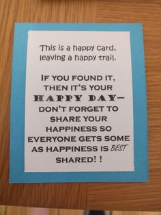 pay it forward service challenge acts of service ideas  on the back i added the happy day statement gelli printed happy cards great concept like pay it forward