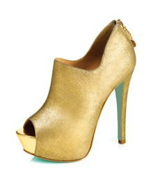 Chloe Green gold bootie shoes