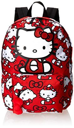 0dd8e2a92 Amazon.com: Hello Kitty SANBK0167 Backpack, Red/White, One Size: Shoes