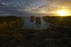 I took this picture as the sun began to set on the Bay of Islands along the Great Ocean Road in Victoria, Australia.