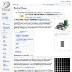 Optical Illusions @ Wikipedia