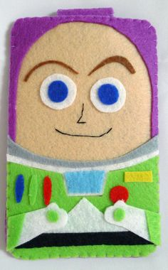 Toys Story collection Handmade Buzz Lightyear iphone, iphone 4S felt cell phone case (FREE SHIPPING) via Etsy