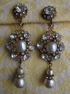 Vintage Signed Miriam Haskell Baroque Pearl & by CornermouseHouse, $300.00