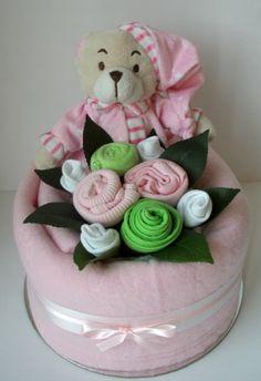 Addictive Gifts Store - Baby Girl Sleepytime Nappy Cake, $59.00 (http://www.addictivegifts.com.au/baby-girl-sleepytime-nappy-cake/)