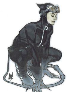 Catwoman by Adam Hughes Comic Art Comic Book Artists, Comic Artist, Comic Books Art, Artist Art, Catwoman Comic, Batman And Catwoman, Batman Art, Adam Hughes, Star Wars Poster