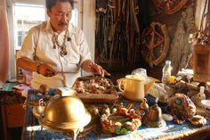 Lazo Mongush, shaman in Kyzyl, capital of Tuva