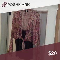 Blouse Multi colored Brown 2 piece with camisole Tops Blouses